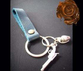 Leather Keychain / Key fob