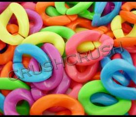 40pcs 29mm x 21mm (Big Size) Acrylic Chunky Link Chains Mixed Colors Kitsch Party Funky X97