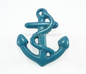  5pcs HUGE Blue Navy Anchor Nautical Charms FLATBACK X18