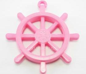  15pcs 25mm Pink Anchors Helms Nautical Acrylic CHARMS X25