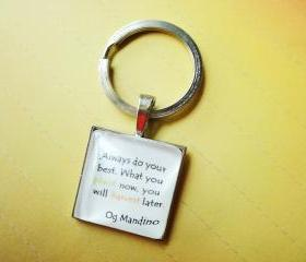 Harvest Quote Words Unisex Gifts 1 inch 25mm Square Glass Necklace