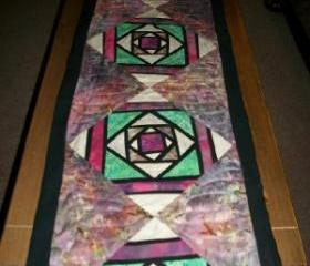 Stained Glass Batik Table Runner
