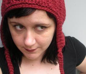 Unisex crochet chunky ribbed earflap beanie hat, ready to ship.