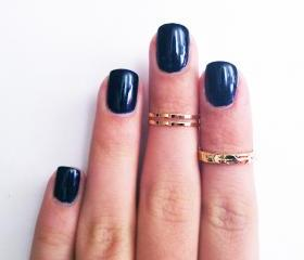 Z Combo Knuckle Rings - Gold Combo