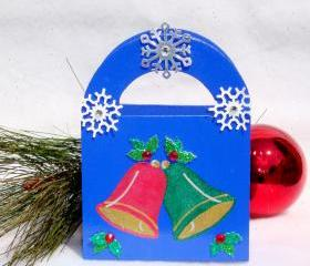 Christmas Bells Gift Bag/ Ornament/ Keepsake