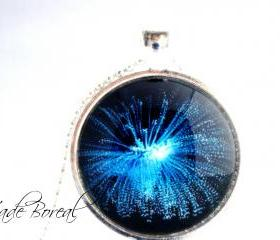 Life under water glass pendant necklace-Deep ocean series