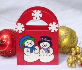 Red Holiday Gift Bag/ Ornament/ Decoration/ Keepsake