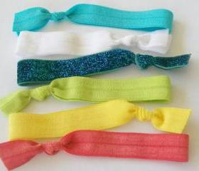 Hair Ties, Set of 6, The Chirping Mom Sparkle Set by Lucky Girl
