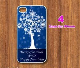 Christmas tree-- iphone 4 case,iphone 4S case, in durable plastic or silicone rubber case