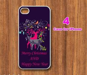 Christmas-- iphone 4 case,iphone 4S case, in durable plastic or silicone rubber case