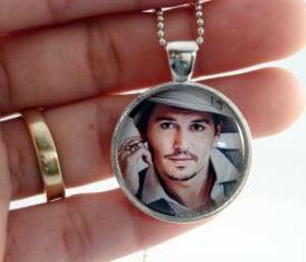 Johnny Depp glass pendant necklace