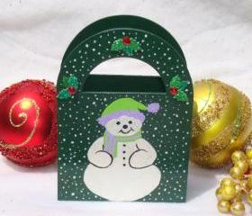 Green Holiday Gift Bag/ Ornament/ Decoration/ Keepsake