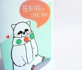 Bear Hug this Christmas Card