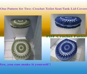 One Pattern for Two - Toilet Seat Cover & Toilet Tank Lid Cover (28VC2012)