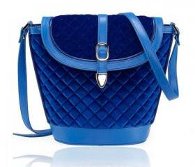 Blue Velvet Duffel Bag