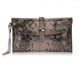 Python Print Envelope Clutch Bag