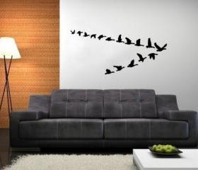 Fying Geese Vinyl Wall Decal 22227