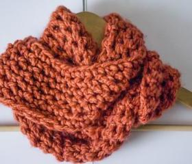 Chunky Pumpkin Infinity Scarf