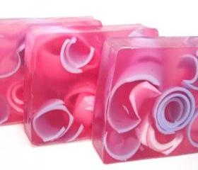 Jasmine Swirly Curly Handmade soap, Glycerin recipe, floral fragrance