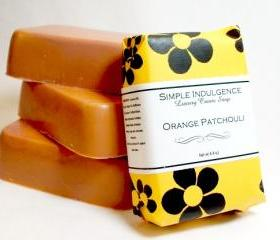 Orange Patchouli Soap, Handmade bar soap, Simple Indulgence