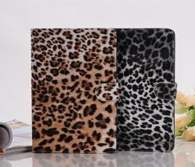 Stylish Leopard PU Leather Cover Case with Stand For iPad Mini 