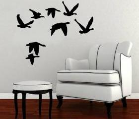 Flying Geese 2 Vinyl Wall Decal 22228