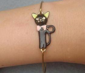 Cat Bangle Bracelet Style 2