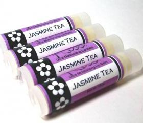 Jasmine Tea Kiss Lip Balm, super moisturizing formula, flavored lip balm