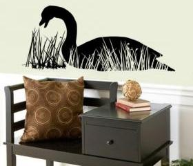 Wall Decal Goose in Grass Reeds 22231