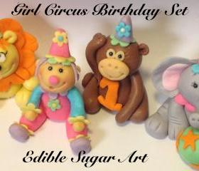 Fondant Girl Circus Cake Topper