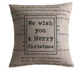 'We Wish You a Merry Christmas' Pillow