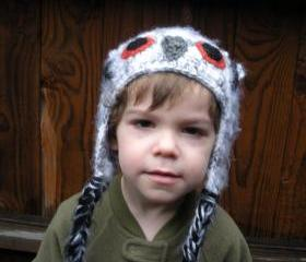 Crochet Owl Hat for Toddlers, ready to ship.