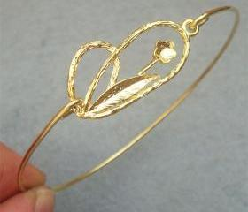 Flower Bangle Bracelet Style 4