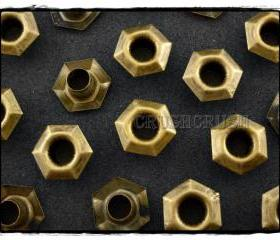  100pcs 6mm Hole Brass Hexagon Eyelets Scrapbooking SPOTS E096