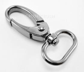 5pcs Gunmetal Trigger Snap Hooks: For Keychains and Craft Making Lobster Swivel Clasps HO1034