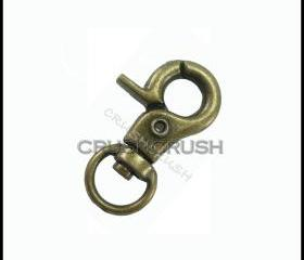 5pcs ANTIQUE BRASS Metal Lobster Swivel Clasps HO90