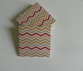 Pastel Chevron Print Tile Coasters