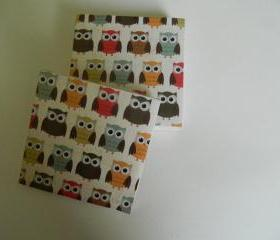 Owl Print Tile Coasters