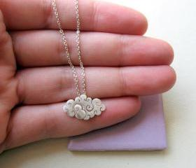 Sterling silver - Cloud necklace - Small