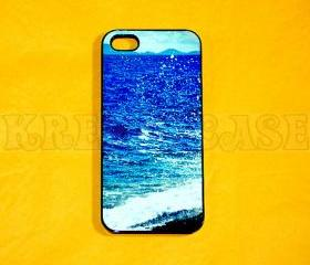 iPhone 5 case, The New iPhone, iPhone 5 cases Sea Waves iPhone 5 Case For your iphone 5 Black White Fast Ship