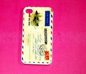 iphone 4 Case, iPhone 4s case Vintage Postcard iPhone 4 Cases, Iphone 4s Cover,Case for iPhone 4
