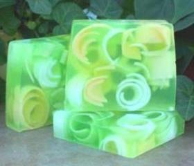 Lemongrass Swirly Curly Soap