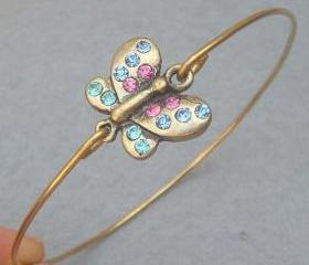 Butterfly bangle bracelet