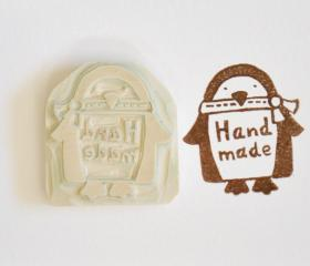Hand Carved Rubber Stamp / Handmade