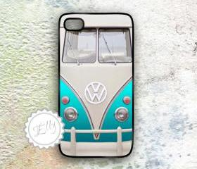  iPhone 4 4S and iphone 5Retro VW Campers Van Vintage Hard Case Covers