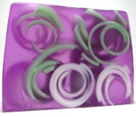 Lavender Swirly Curly Handmade soap, apothecary lavender fragrance, herbal soap