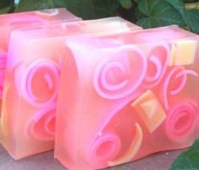Plumeria Handmade Swirly Curly Soap