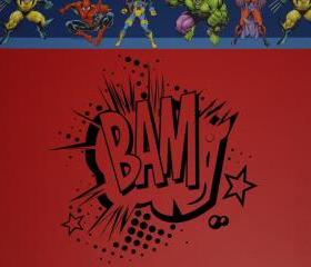 BAM Super Hero Comics Vinyl Wall Decal 22101