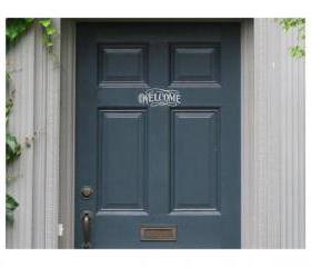 Vinyl Decal Welcome for Door 22014