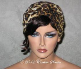 Handmade Twist Fashion Turban - Black, Gold, Animal Print